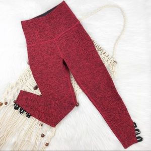 Beyond yoga red space dye crop high rise leggings